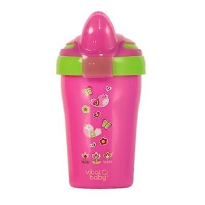 Vital Baby Soft Spout Toddler Trainer Cup Pink 280ml 1 2 3 6 12 Cases