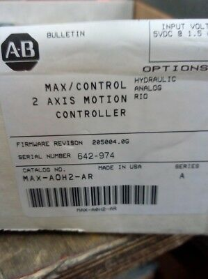 Allen Bradley MAX-A0H2-AR two axis motion controller !!!