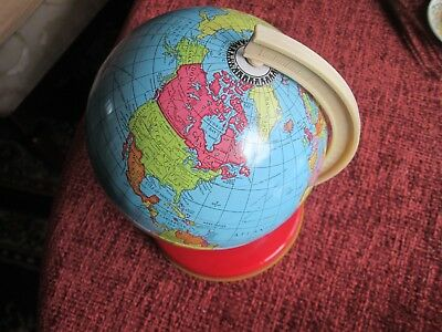 Vintage Chad Valley rotating World Globe-Read main description and all scans.