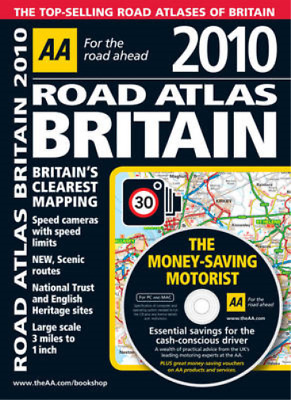 AA Road Atlas Britain 2010 (AA Atlases and Maps), AA Publishing, Used; Good Book