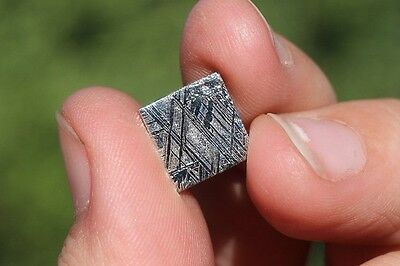 Meteorites for jewelry electroplated super thin square! 10mm X 10mm