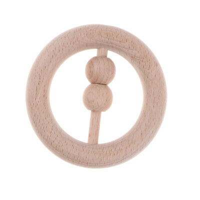 Natural Wooden Rattle Baby Montessori Developmental Toy Music Shakers - Ring