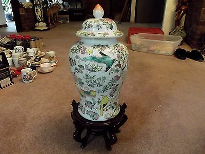 "16"" VASE URN Meiping TEMPLE JAR Famille Rose Porcelain Chinese DA QING QIANLONG"