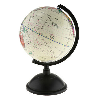 30cm World Globe for Home Desk Decoration Geography Educational Toys White