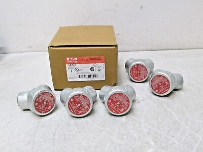 """LOT OF 5 Eaton Crouse-Hinds LBY25 3/4"""" 90 Degree Conduit Service Entrance Elbow"""