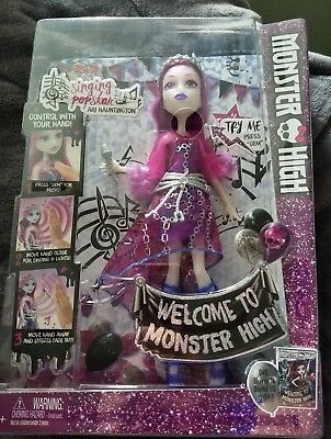 Monster High Dance the Fright Away Singing Popstar Ari Hauntington Doll New