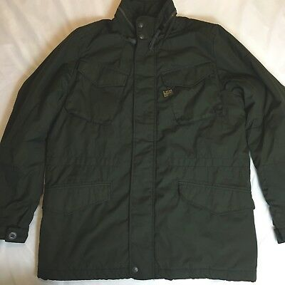G Star Raw Mens Green Military Style Field Jacket Size L