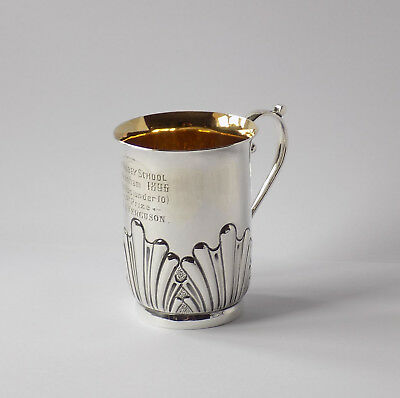 Antique Silver Plated Cup. The Abbey School Beckenham. 1St Prize, 100 Yds. 1896.