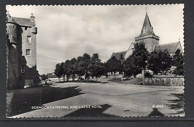 1965 Dornoch Cathedral And Castle Hotel Sutherland Posted RP Card As Scanned