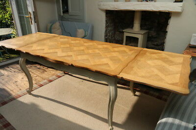 Vintage French Louis XV Style Dining Table, Extending Parque Top