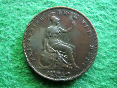 1853 Great Britain Penny - Nice Higher Grade Circulated - Free U S Shipping