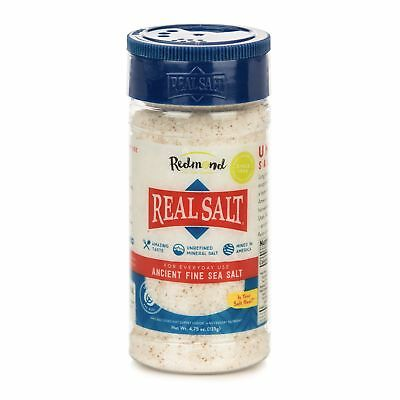 Redmond Real Sea Salt - Natural Unrefined Organic Gluten Free Fine, 4.75oz