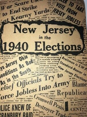 1949 New Jersey Socialist Workers  Party Campaign Literature BREITMAN