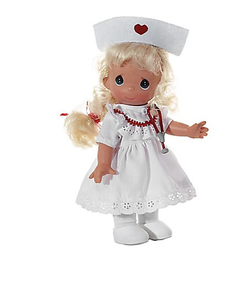 """Precious Moments Loving Touch Nurse Blonde 9"""" Doll Sealed New Vinyl With Tag"""