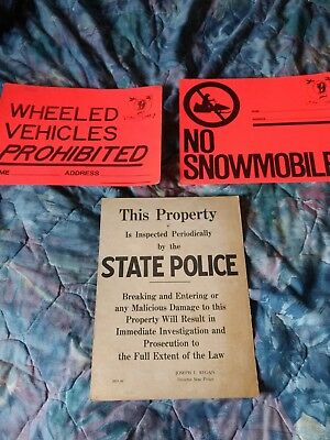 New Hampshire State Police & Fish and Game Snowmobile & Wheeled Vehicle Signs