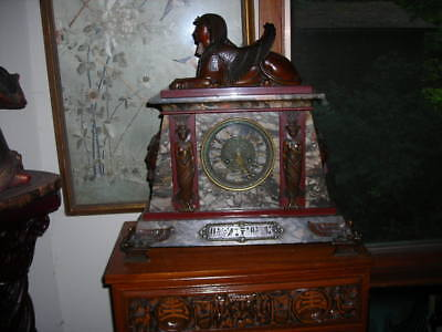 Sale! Amazing 1880 Antique Egyptian Revival Clock From Antiques Roadshow 19X20X8