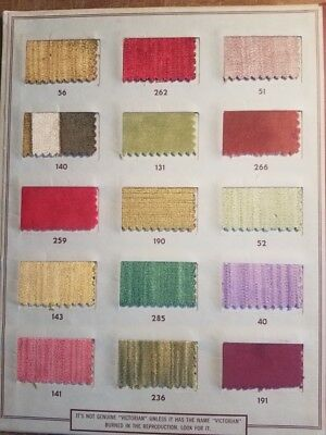 c1950s Victorian Velvet Furniture Corp Weaved Cloth Sample Book Montgomery AL