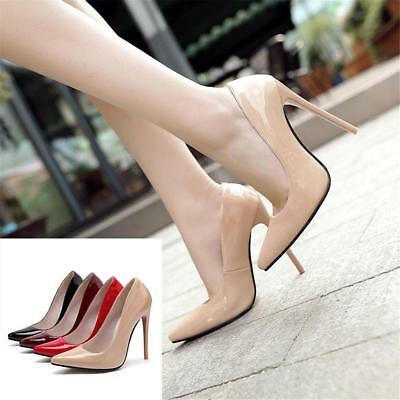 Extreme High Heels Stilettos Pumps Sexy Pointed Toe 12 Cm Ladies Party Shoes New