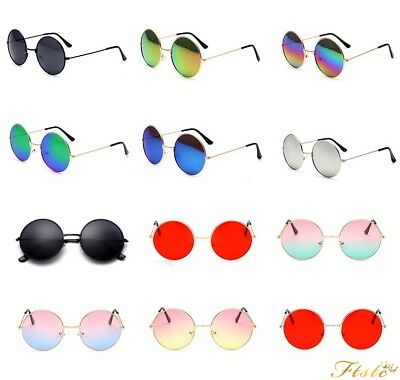 Fashion Round Vintage Retro Hippy Cyber Goggles Steampunk Mens Womens Sunglasses