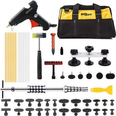 PDR Paintless Dent Repair Tools Puller Lifter Hail Removal Glue Sticks Kit + Bag