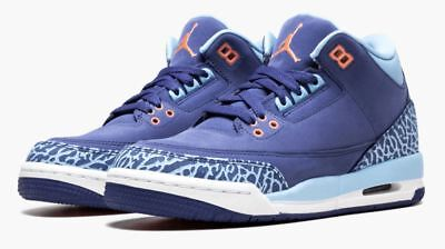 2a439784d2124e Nike Boys  Air Jordan 3 Retro GG Basketball Shoes Purple Dust Pink 6Y 441140 -