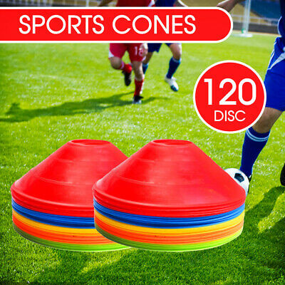 60/120 Pack Sports Training Discs  Fitness Exercise Markers Cones Soccer Rugby