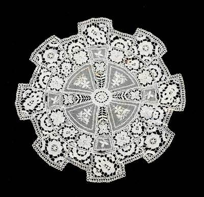 Antique light weight cotton embroidered doily mat