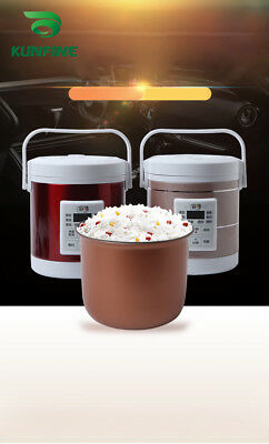 Car Rice cooker for Vehicle  In Car Charger Cigarette Lighter Driving travel