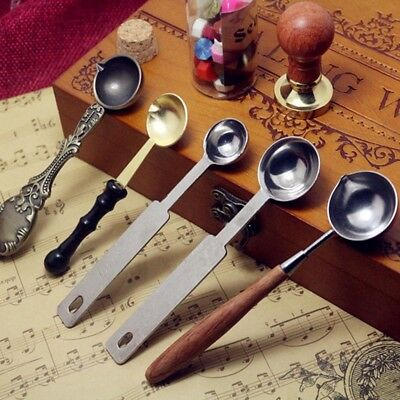 Brass Spoon For Melting Wax Steel Letter Envelope Seal Stamp Craft UK STOCK