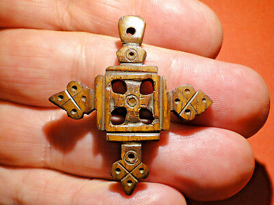 Beautifully Carved Early Bone Reliquary Pendant, possibly Late Roman.