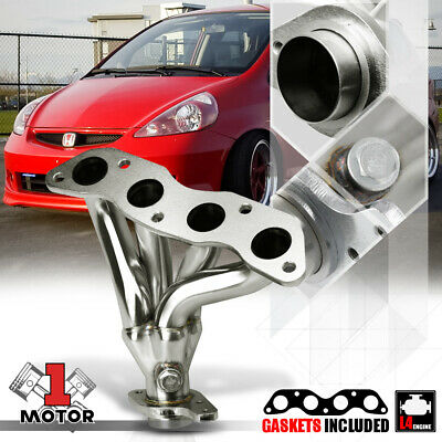Stainless Steel 4-1 Exhaust Header Manifold for 06-08 Honda Fit/Jazz L15A GD3