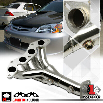 Stainless Steel 4-1 Exhaust Header Manifold for 01-05 Honda Civic DX/LX 1.7 D17A