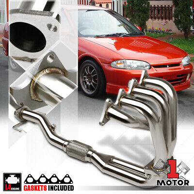 Stainless Steel Exhaust Header Manifold for 97-02 Mit Mirage 1.8 4Cyl 4G93 SOHC