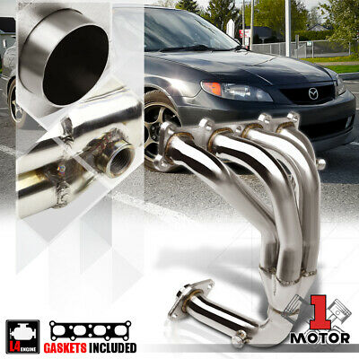 Stainless Steel 4-1 Exhaust Header Manifold for 01-03 Mazda Protege/5 2.0 4Cyl