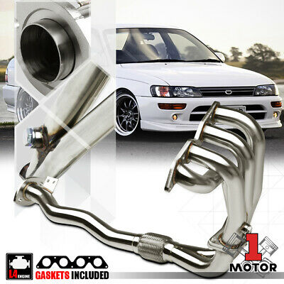 Stainless Steel Exhaust Header Manifold for 93-97 Toyota Corolla AE101 4A-FE 1.6