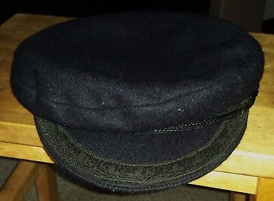 Traditional Breton Imper Navy fishing sailor cap 70% wool made in France size 59