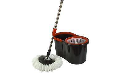 Rotating Spin Mop with Bucket Two Microfibre Heads adjustable handle Lightweight