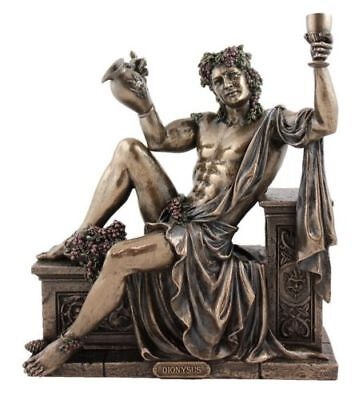 Veronese Bronze Figurine Greek God of Wine Dionysus grape vine