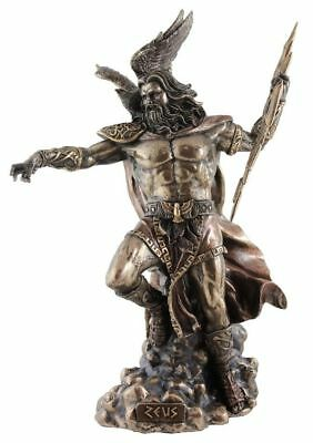 Veronese Bronze Figurine Greek God of the Sky Zeus Gift Home Decor