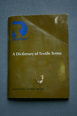 Dan River Dictionary of Textile Terms 11th Ed. Vntg USA