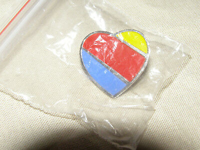 Southwest Airlines New Logo Heart Lapel Pin / Tie Tack