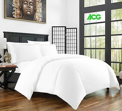 Luxury Duvet Cover 100% Egyptian Cotton Bedding Set Double King Super King Size