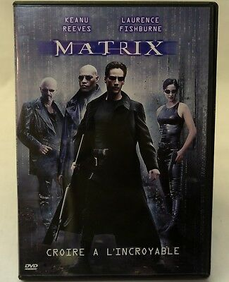 The Matrix DVD (1999) Keanu Reeves, Laurence Fishburne - FRENCH, PAL