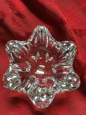 FLAWLESS Stunning BACCARAT France Art Glass STAR FISH FLOWER Crystal BOWL DISH