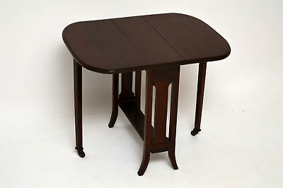 Small Antique Edwardian Drop Leaf Occasional Table