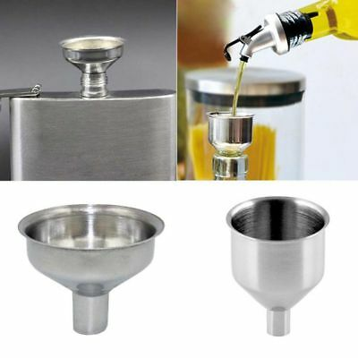 New Kitchen Tool Handle Filling Wine Mini Funnel Small Mouth Stainless Steel