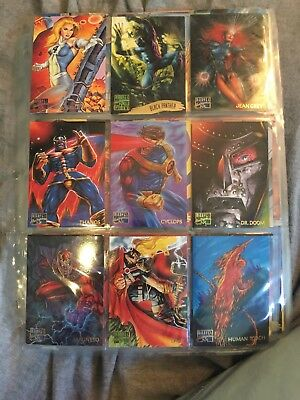 MARVEL MASTERPIECES 1995 *58 Cards!*