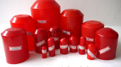 2-10pcs Adhesive Glue Lined 2:1 Heat Shrink End Caps Diameter 10mm-120mm Red