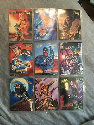 FLEER ULTRA SPIDERMAN 1995 GOLD FOIL SIGNATURE SERIES CARDS *Lot Of 9*