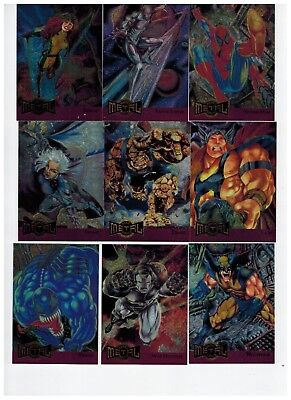 1995 Marvel Metal Blaster 18 Card Insert Set 2018 Sale Spider-Man X-Men